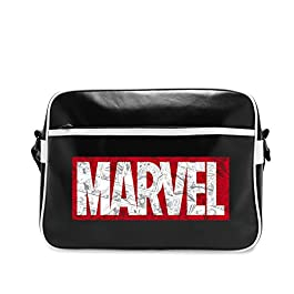 ABYstyle- Marvel Borsa a Tracolla-Logo Vintage per Adulti, L, ABYBAG202