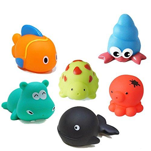 PANNIUZHE Schwimmen Schwimm Badewanne Spielzeug Satz von 6 für Kleinkinder Babys Kinder