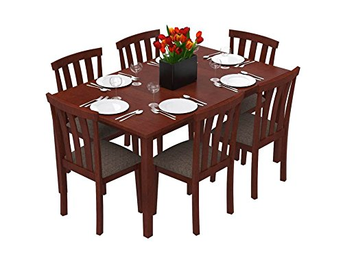 Forzza Miami Six Seater Dining Table Set (Oak)  sc 1 st  Budget Baazaar | Online Shopping & Buy 6 Seater Wooden \u0026 Glass Dining Sets Online | Dining Room ...