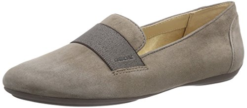 Geox D Charlene D, Bailarinas Mujer, Gris Dove Grey