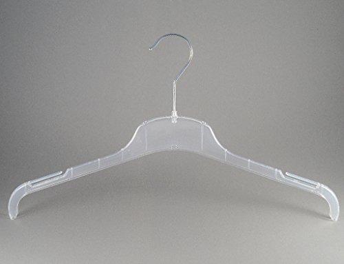 Kleiderbügel für Kostüme, Blusen und Shirt, 43 cm, FO1-43c, transparent, NEU, 20 Stück