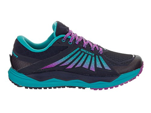 Brooks Caldera, Chaussures de Course Femme Evening Blue/Teal Victory/Purple Cactus Flower