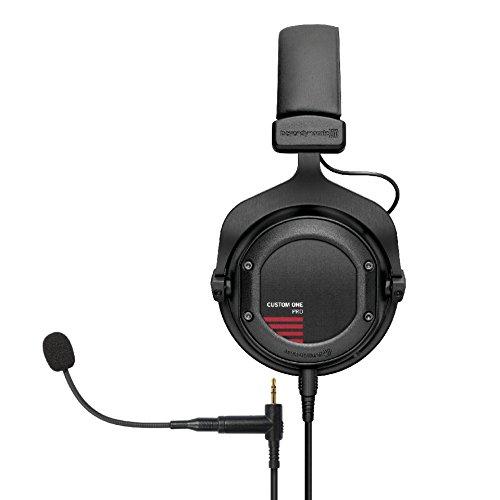 beyerdynamic Custom One PRO PLUS 16 Ohm Kopfhörer schwarz und beyerdynamic Headset Gear (Mikrofon Erweiterung für Custom Serie) schwarz - Gear-pro-serie