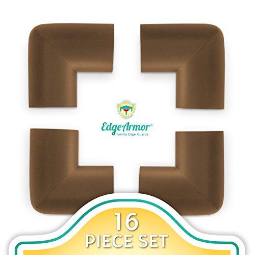 Edge Armor Corner Protectors - 16 Piece Value Pack Brown