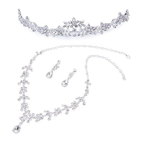 Tiara / Collar / Pendiente De Cristal De La Joyer¨ªa De Diamantes De