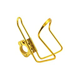 Idea Regalo - Bicycle Accessories Accessori per la modifica di auto elettriche moto Portabevande per biciclette, portabicchieri con portabicchieri con fibbia - LXZXZ (Colore : Oro)