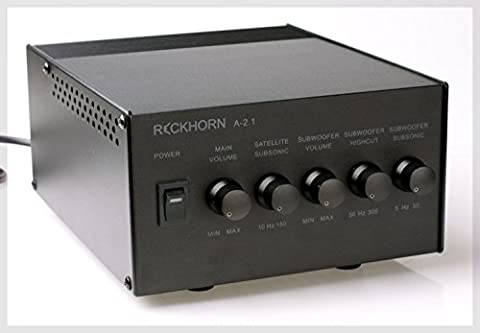 Reckhorn A 2.1 3-channel stereo amplifier with a mono subwoofer amplifier and active crossover