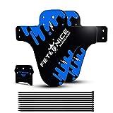 FETESNICE Funda de protección para Guardabarros de Bici contra Salpicaduras Mud Guard Plus 26 650B 27,5 29 MTB (2 Piezas), Azul