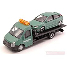 BURAGO BU31404 FORD FOCUS ST + FLATBED TRANSPORTER 1:43 MODELLINO DIE CAST MODEL