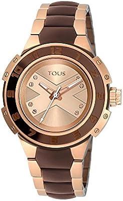 Reloj Xtous Lady de acero bicolor IP rosado/chocolate