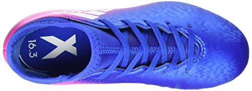 adidas X 16.3 Ag J, Chaussures de Football Entrainement garçon Bleu (Blue/crystal White/core Black)