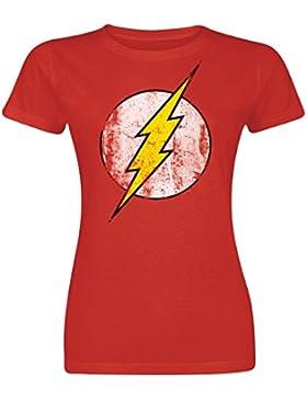 The Flash Logo Camiseta Mujer Rojo S