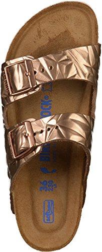 BIRKENSTOCK Damen Madrid Birko-Flor Pantoletten, Beige Rosa(Spectral Copper)