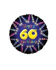 Idea Regalo - GIRM® - S17562-18 - Pezzo singolo, Palloncini elio Happy Birthday - Palloncino con scritta