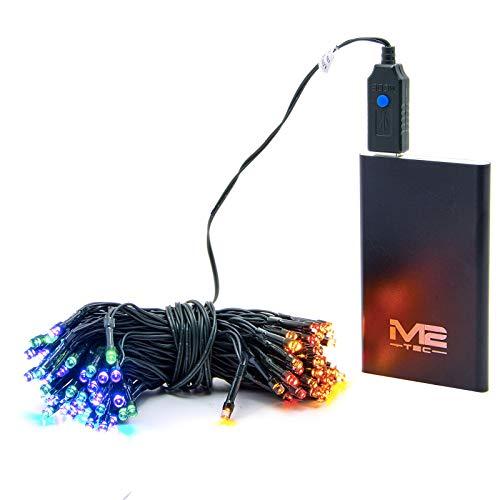 10m 100 LED USB Lichterkette für Innen & Außen Weihnachtsbeleuchtung Power Akku, USB Lichterkette, Diese USB-Lichterkette eignet Sich bestens für schönen Momente (mit PowerAkku)