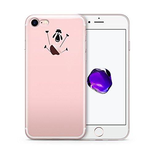 Cujas® | Transparent Weich Silikon TPU Schutzhülle Motiv Case Schutz Durchsichtig Dünn (iPhone 7 / 8 4,7