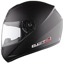 Casco de la motocicleta LS2 FF351 Mono casco integral (XL, Mate negro)