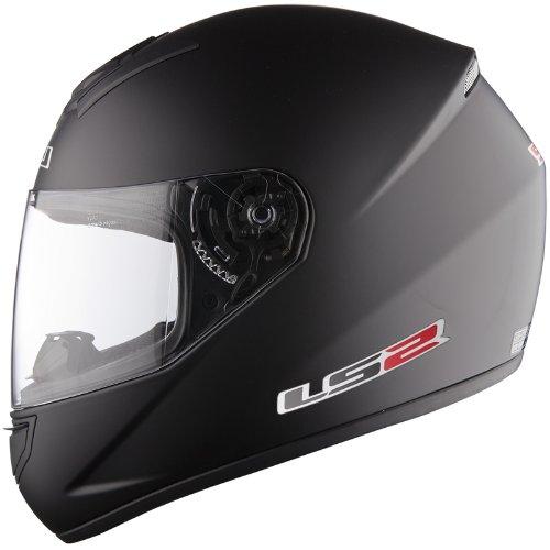 Casco de la motocicleta LS2 FF351 Mono casco integral (XS, Mate negro)