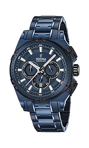 Festina Herren-Armbanduhr Chronograph Quarz Edelstahl beschichtet F16973/1