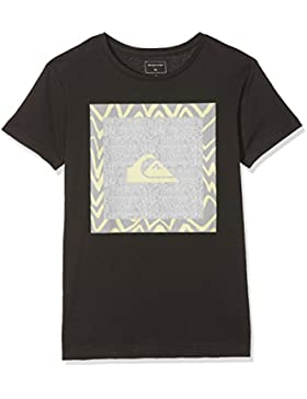 Quiksilver Classic Nano Spano Camiseta, Niños, Gris (Tarmac - Solid), M/12