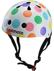 Kiddimoto 2kmh023s Design Sport Helm Pastel Dotty / Pünktchen bunt Gr. S, für Kopfumfang 48-53cm (2-5 Jahre)