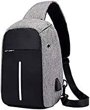 YOUBAMI Sling Backpack, Water Repellent Anti-Theft Multipurpose Chest Crossbody Shoulder Bag Travel Hiking Cas