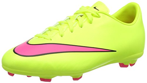 Nike Jr. Mercurial Victory V FG, Unisex-Kinder Fußballschuhe, Gelb (Volt/Hyper Pink-Black 760), 37.5 EU (Kinder Gelbe Für Schuhe Nike)