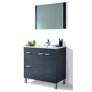 HABITMOBEL Mueble Lavabo + Espejo + Lavabo PMMA,Mod Charles