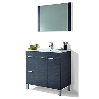 41qNvNrgxmL. SS324  - HABITMOBEL Mueble Lavabo + Espejo + Lavabo PMMA,Mod Charles