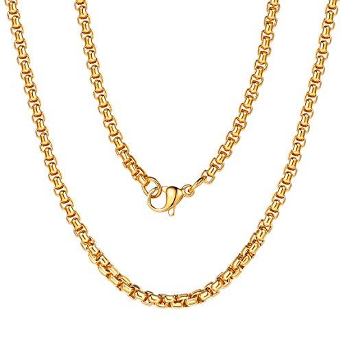 ChainsPro Halskette Mann Erbskette Herren Engel Flügel Kreuz Legierung Anhänger mit 51cm Kette, Armee Stil Leder Halskette für Herren Damen, Schwarz Silber ()