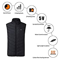 Arvin87Lyly Heated Vest USB Charging Heated Clothing,Winter Warm Vest,Windproof Outdoor Riding Skiing Fishing Electric Heated Clothing, Unisex Lightweight Camping Hiking Vest