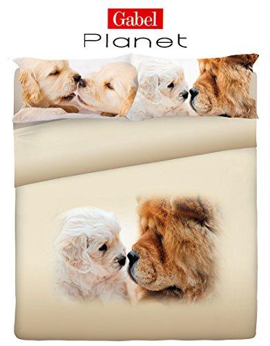 Set-copripiumino-matrimoniale-Gabel-DOGGY-fotografico-Cuccioli-Shar-Pei