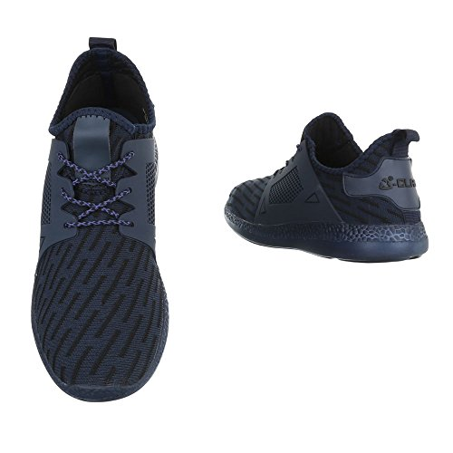 Ital-Design - Pantofole a Stivaletto Donna Dunkelblau BY3101