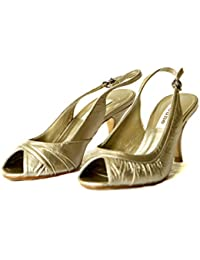Justina Claire Rouched or Slingback Peep de santal
