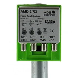 Micro Verstärker TV-Mast für Antennen DTT 3Eingänge