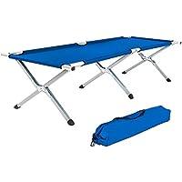 TecTake XL Alu Feldbett Campingbett belastbar bis 150 kg mit Transporttasche - diverse Farben und Mengen -
