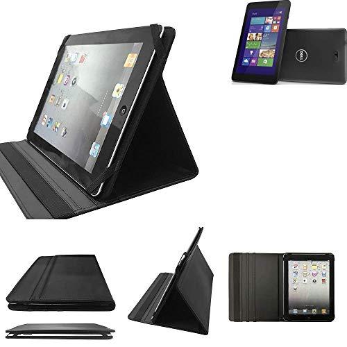Dell Venue 8 Pro 3G Schutz Hülle Business Case Tablet Schutzhülle Flip Cover Ultra Slim Bookstyle Tasche für Dell Venue 8 Pro 3G, schwarz. Kunstleder Qualitätsware - K-S-Tra