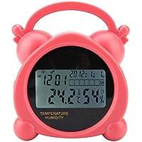 ZJHDX Termómetro Higrómetro, termómetro digital higrómetro reloj despertador para oficina en casa