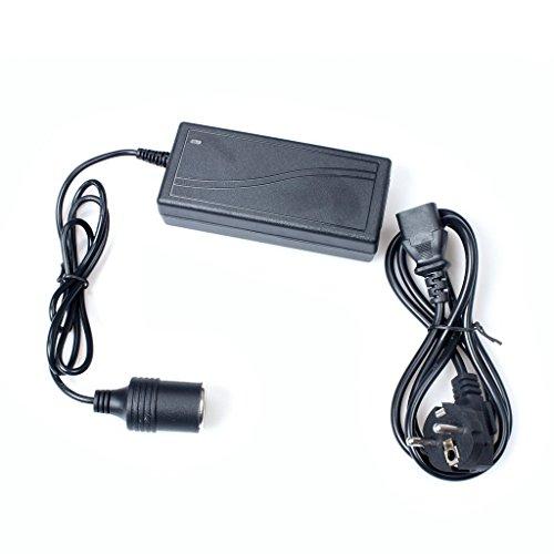 Preisvergleich Produktbild AC 100 ~ 240V zu DC 12V Stromrichter mit Zigarettenanzünder, Adapter für 5A 60W Auto Elektrogeräte
