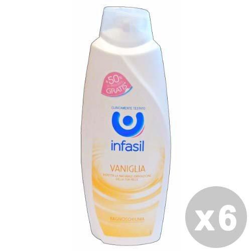 Set 6 Infasil bain vanille 500 + 250 ml. Les savons et cosmétiques