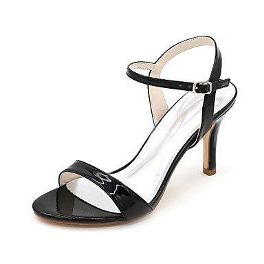 zhENfu Donna Sandali Primavera / Estate / Autunno sandali brevetto matrimonio cuoio / Festa & Sera Black
