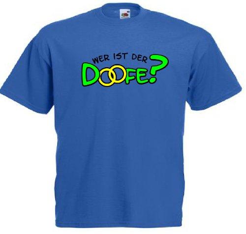 T-Shirt für den Junggesellinnenabschied mit dem Motiv Wer ist der Doofe? Royal