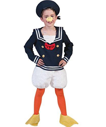 Donald Duck Kostüme Kinder (Kostüm Blaue Ente Kind Größe 116 Kinderkostüm Märchen Karneval Fasching Junge Mädchen)