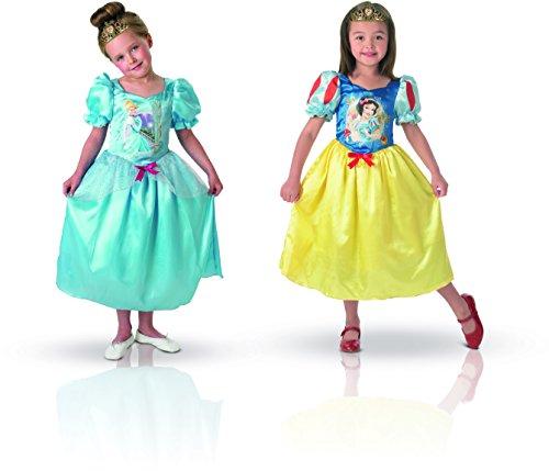 Rubie's disney princess costume da bambina reversibile cenerentola/biancaneve, taglia 5/6 anni