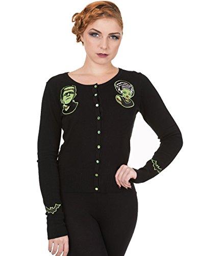 Vietato giacca da donna - Frankenstein di Monster e sposa carminda Nero fino a 4XL nero Large