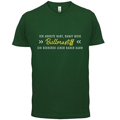 Ich arbeite hart, damit mein Bullmastiff ein besseres Leben haben kann - Herren T-Shirt - 12 Farben Flaschengrün