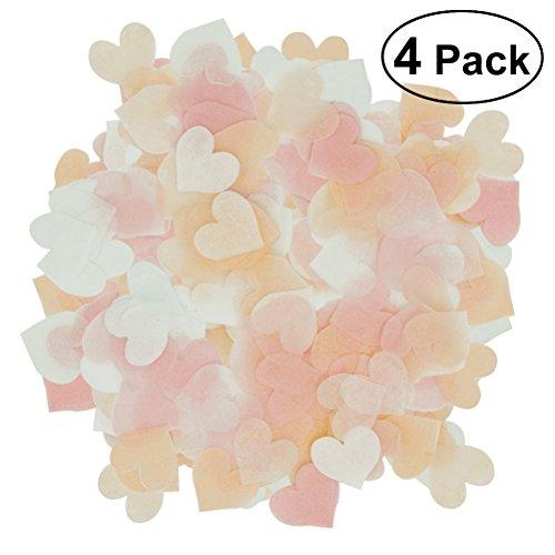 TOYMYTOY Papier Konfetti Glitter Tischdeko Konfetti Herz Form für Hochzeit Party 4 Pack (Mischfarben) (Runde Bankett-tisch)