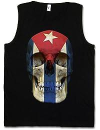 Cuba Flag Skull Camiseta SIN Mangas - Bandera cráneo Totenkopf Kuba  Revolution Fidel Castro Che Guevara Camiseta SIN Mangas… 673ba130a4c