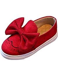 Niñas Zapatos Color Sólido Arco Lona Mocasín Chica Casual Adorable Princesa Plana Calzado Cabeza Redonda Zapatos