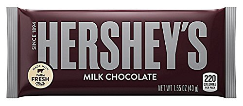 Hershey's Milk Chocolate Bar 43g (5 Pack) (Bar Hershey Chocolate)